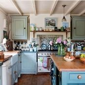 inspiracje : cottage english kitchen