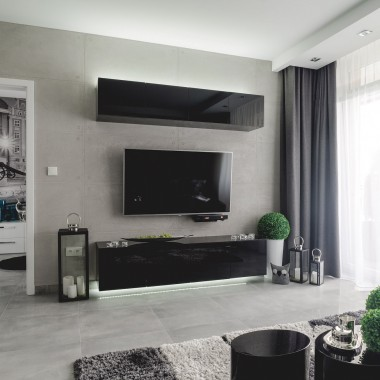 Projekt wnętrza mieszkania w nowoczesnym stylu.