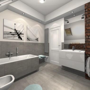 Co powiecie na naturalną cegłę w łazience? Ciekawie czy staroświecko? Zobaczcie projekt uroczej łazienki na poddaszu autorstwa Moniki Krajewskiej oraz Kamilii Ryśnik. Czekamy na Wasze komentarze i lajki! :)