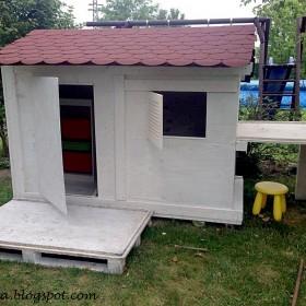 Pomysł na drewniany domek dla dziecka