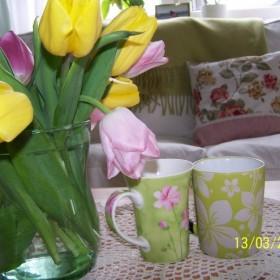 zielono mi:))) czyli wiosna w moim domu&#x3B;)))