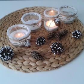 DIY szklane świeczniki