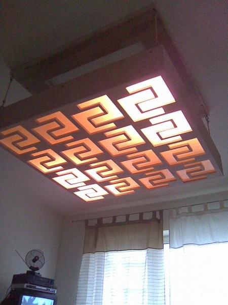 Pozostałe, lampa w salonie
