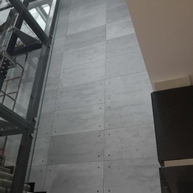 Nowoczesne wnętrza - loft w biurze . Beton architektoniczny