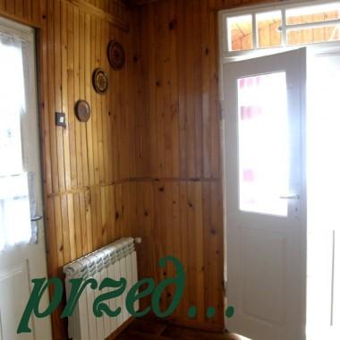 kąt obok wejścia z ganku tuz przed czyszczeniem