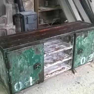 budujemy szafke   RTV w stylu industrialnym loft