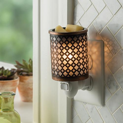 Dekoracje, Kominki elektryczne plug-in (nowość) - Kominek Candle Warmers MOROCCAN