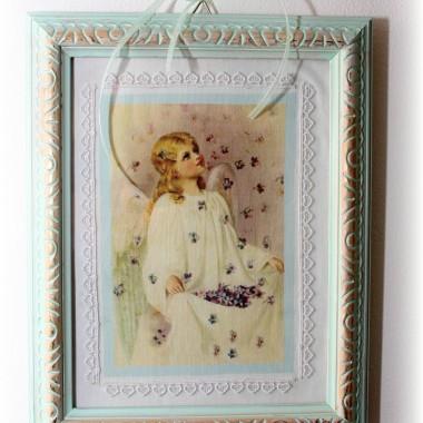 aniołek, jak i pozostałe obrazki, został wydrukowany na płótnie:))
