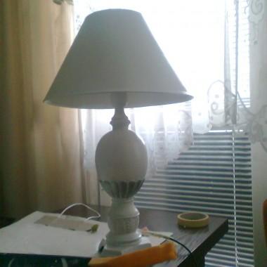 Zaczęłam z moją starą lampą... była mahoniowa