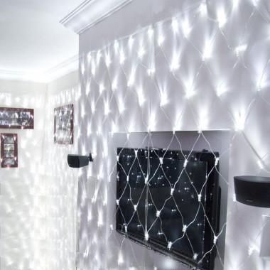 siatka LED w salonie