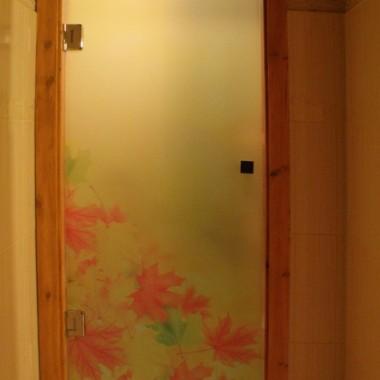Drzwi całoszklane ozdobne