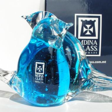 Ptaszki lovebirds Mdina Glass