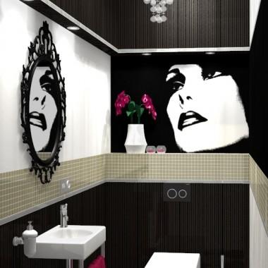 Toaleta w stylu glamour