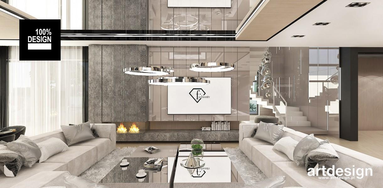 Salon, Elegancki salon w ciepłych kolorach | POWER OF DESIGN - Elegancki salon w ciepłej kolorystyce