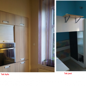 cd kuchnia minimalistyczna i pokój