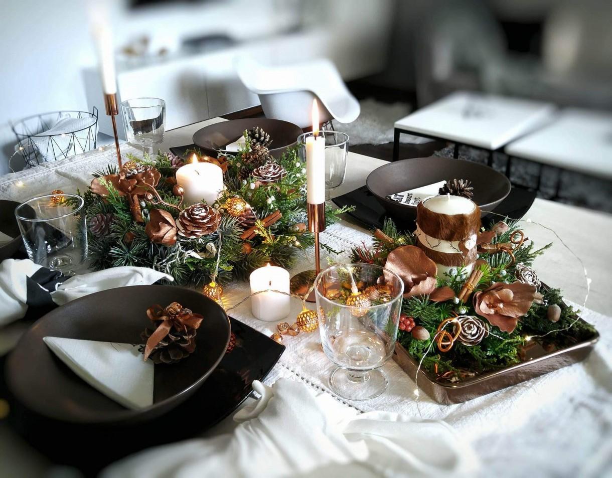 Piękna aranżacja stołu blogerki So_Very_Me