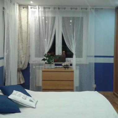 Sypialnia w marynistycznym stylu :)