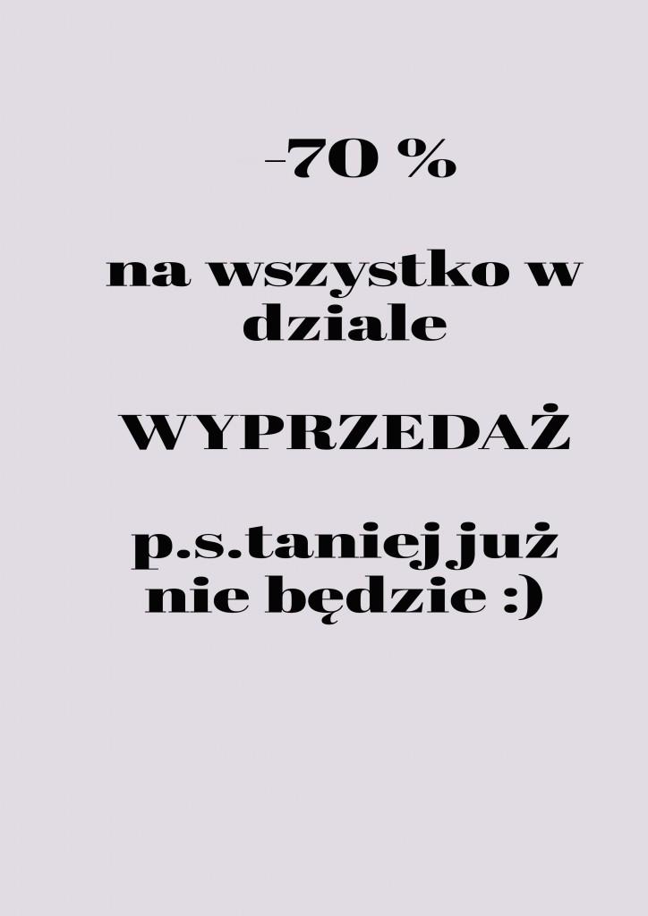 Pozostałe, -70% - Ostatnie dni wyprzedaży - tylko do piątku 01.08 ! www.zkredensubabuni.pl