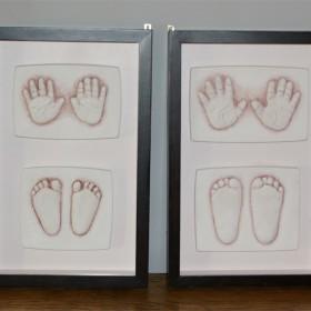 Pamiątka dla rodzica - rączki i stópki dziecięce