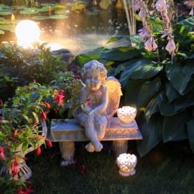Światełka w ogrodzie