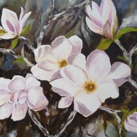 """""""Magnolie"""" akryl 50x60 cm"""