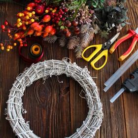 DIY - wianek jesienny krok po kroku