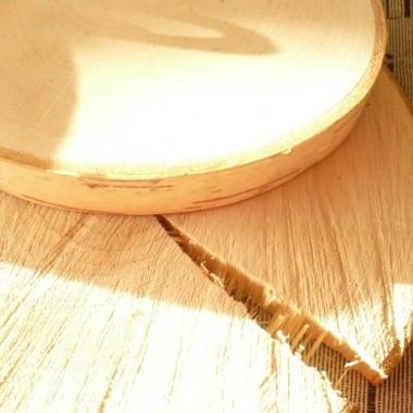 .................i drewniane podkładki.............