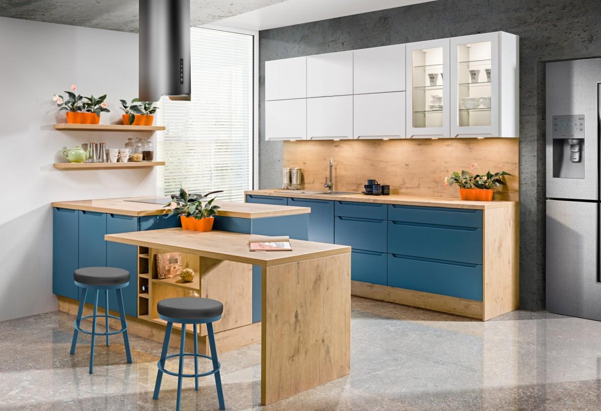 Kuchnia, Kolory kuchni: niebieski