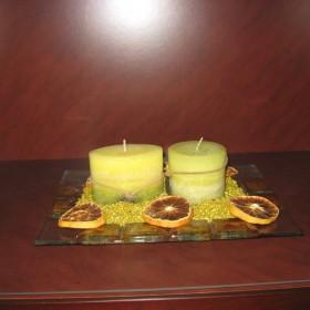 dekoracje z udziałem świec