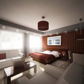 Projekt aranżacji apartamentu holetowego