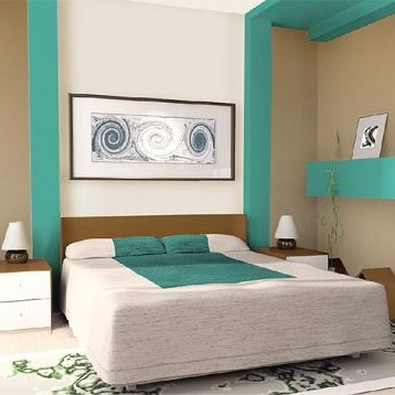 Ciekawa kombinacja kolorów do sypialni