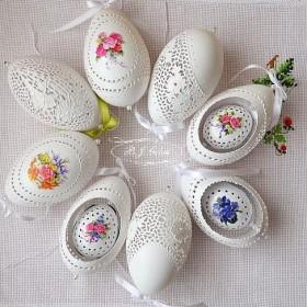 Ażurki pisanki-Kolorowe jajka ażurowe od Justyny,