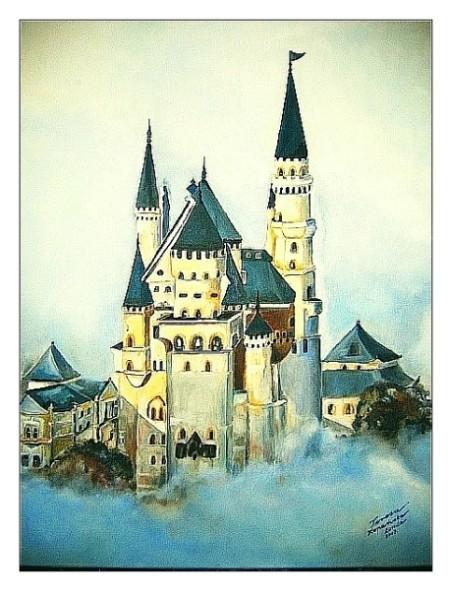 """Pozostałe, Galeria obrazów Teresy.K """"Pejzaż"""" - """"Zamek Szalonego Króla Bawarii"""" (architektura)"""