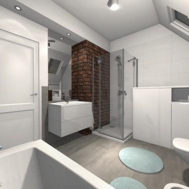 Naturalna cegła w łazience