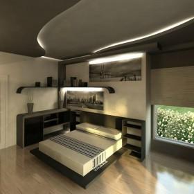 Sypialnia w szarości