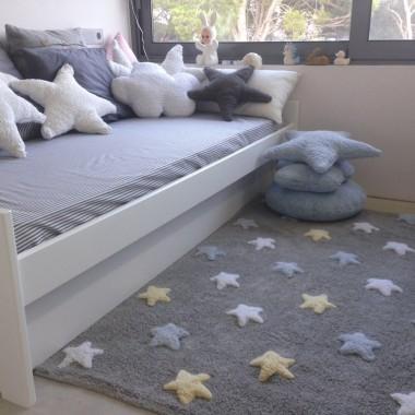 Mamy też wersję dla chłopca :) Uroczy, mięciutki Dywan w gwiazdki Stars grey blue Lorena Canals