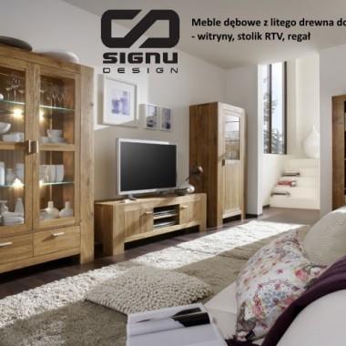 Drewniane meble dębowe do nowoczesnego salonu