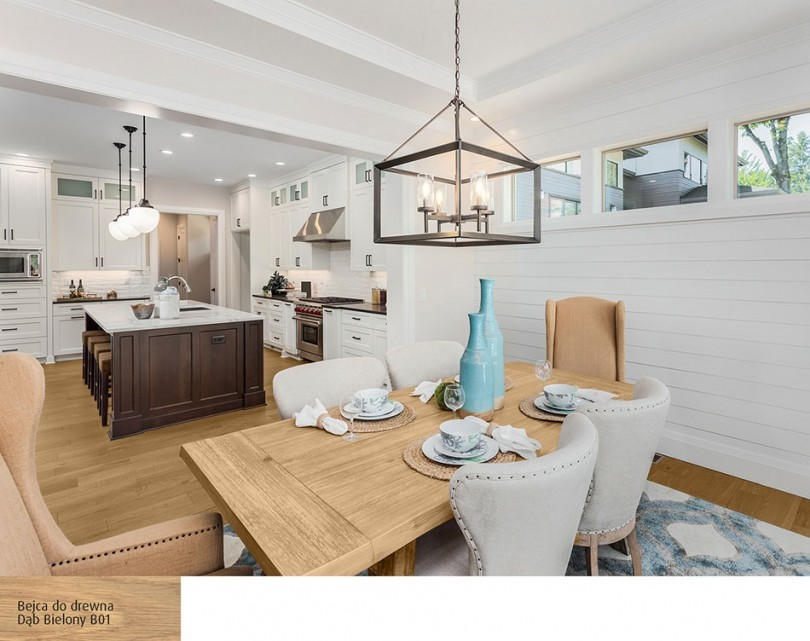 Salon, Wnętrza w bieli i drewnie - najlepsze inspiracje