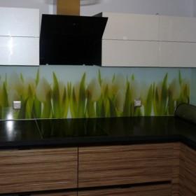 panel szklany do kuchni z nadrukiem