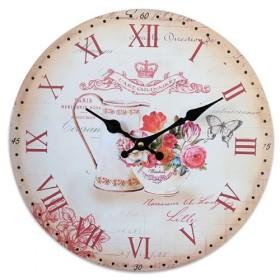 Zegar ścienny do kuchni motyw kwiatowy