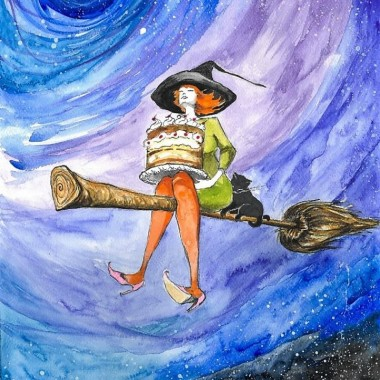 Urocze Wiedźmy artystki Adriany Laube - akwarele, obrazy
