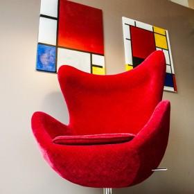 fotel w pikantnym kolorze