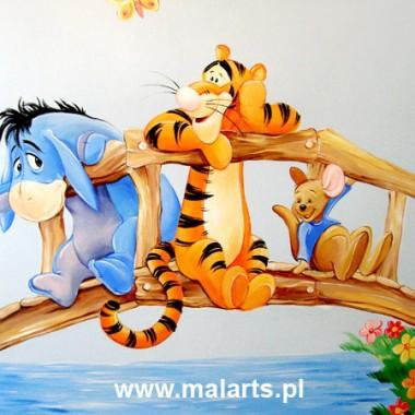 Artystyczne malowidła ścienne w pokojach dziecięcych