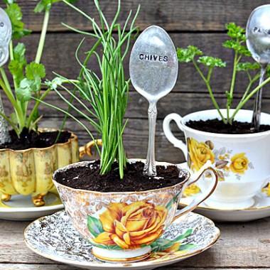 Tabliczki do oznaczania roślin - z łyżek