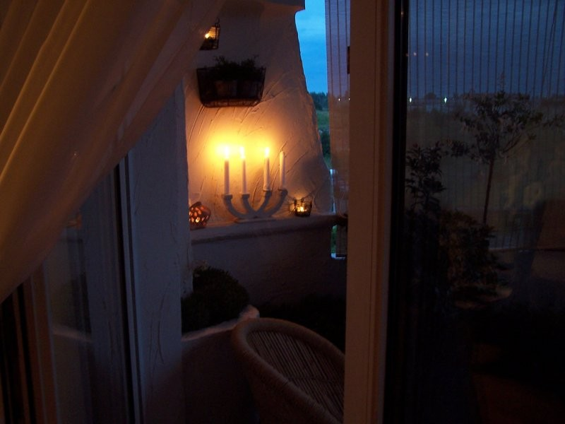 Balkon, Mój balkon nocą