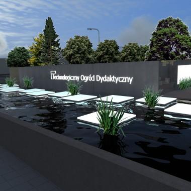 Zwiedzający może wybrać alternatywną trasę przez płytki, podświetlony kanał z roślinnością wodną.