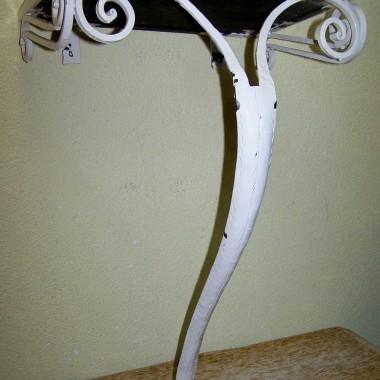 kuta stara  konsola do ogródka lub na taras  z glazurą