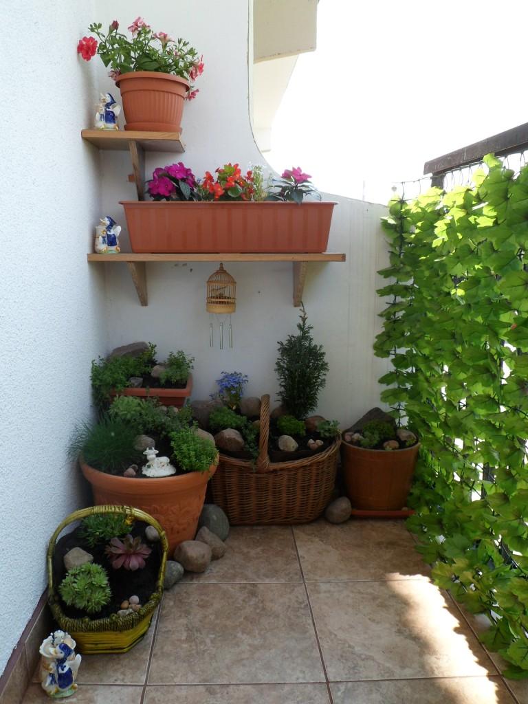 """Balkon, Mój wymarzony """"prawie"""" ogród :) - Mała zmiana aranżacji :)"""