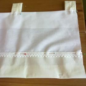 zazdrostki bawełniane białe + ecru