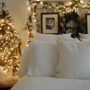 Sypialnie ze świątecznym akcentem